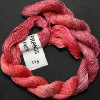 Coton perlé fin de Stef Francis rouge 14