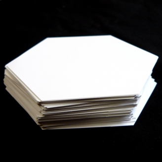 Hexagones de 1/2 inch (1,25 cm), Gabarits pour patchwork