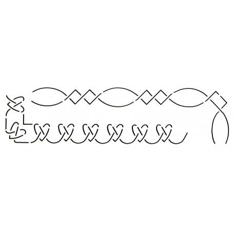 Stencil Coeurs Bordures de 2,6 cm
