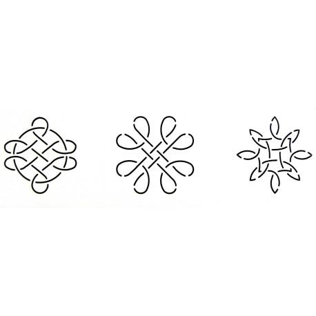 Stencil motifs celtiques de 7.8 cm