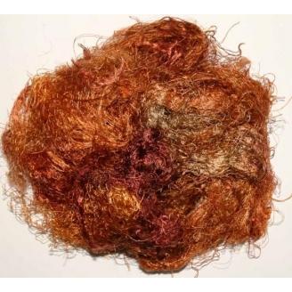 Fibres de soies marrons