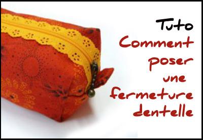 Tuto : trousse carrée à fermeture dentelle
