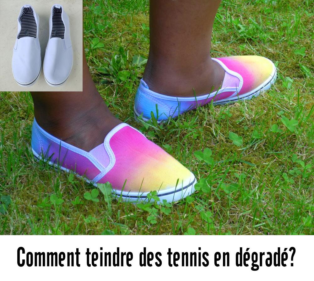 Comment teindre des tennis en dégradé?