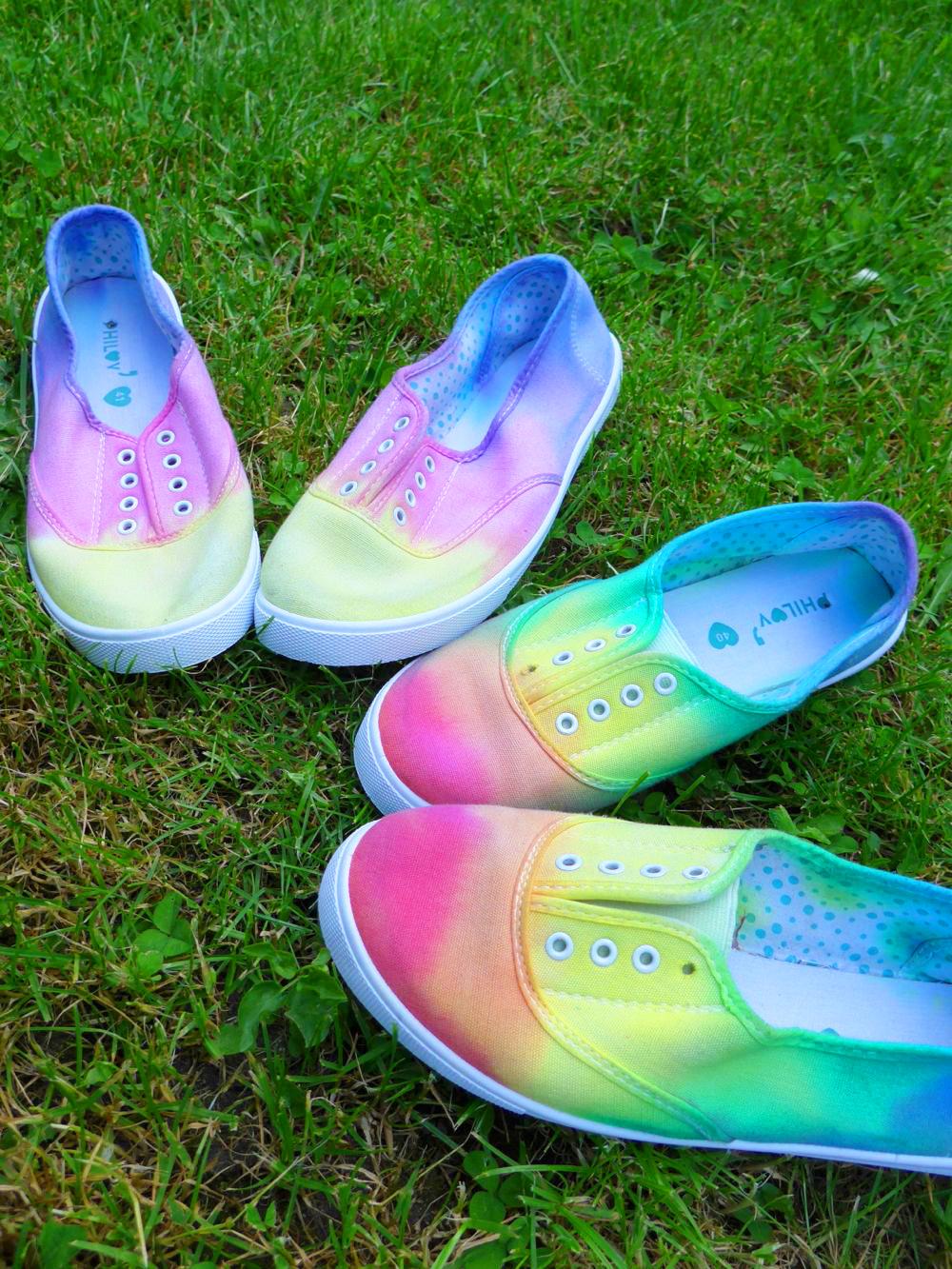 Comment teindre des chaussures en dégradé?