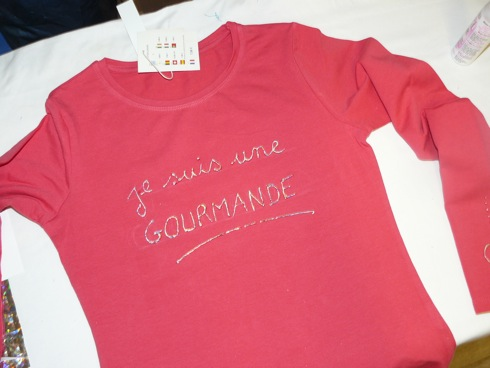 Customisation de tee-shirt