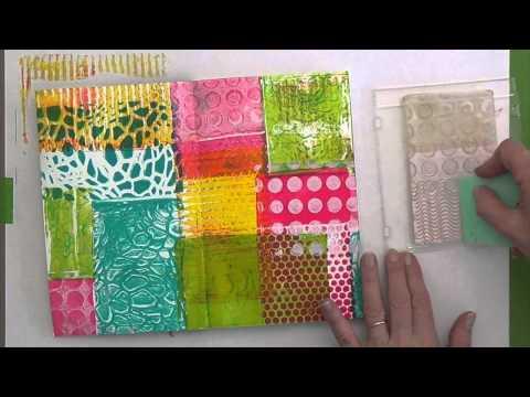 Imprimer avec la GelliPlate taille carte postale